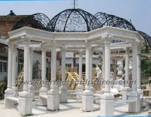 Stone Marble Granite Garden Gazebo for Garden Sculpture (GR030) pictures & photos