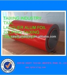 Red Lacquered Aluminium Foil Airline Food Container