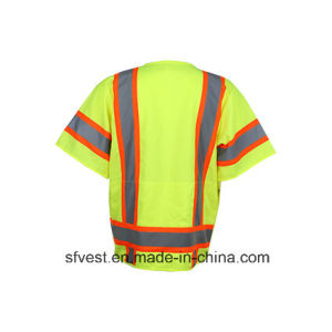 Traffic Safety Reflective Vest Safety with Chest Pockets Security Vest pictures & photos