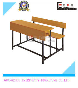 High Quality Student Double Desk & Bench (SF-29D) pictures & photos
