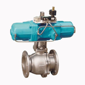 PTFE Lined Pneumatic Ball Valve (Q641F4-PN10~25)