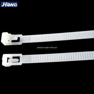 White Plastic Nylon Reusable Cable Tie (7.2x200mm) pictures & photos