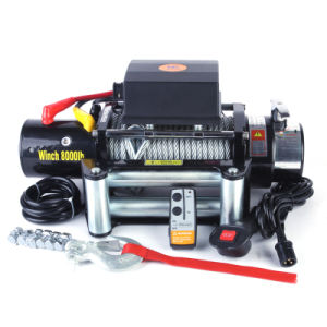 Auto Recovery Winch 8000lb with Steel Gears pictures & photos