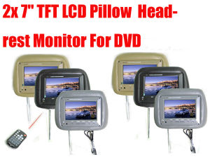 7′′ TFT LCD Pillow Headrest Monitor DVD (LTM-SK707)