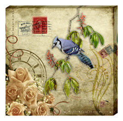 Canvas Painting-Flowers and Birds
