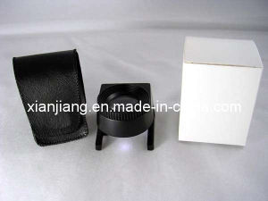 LED Light Jewel Loupe and Linen Tester, High Power, Metal Frame