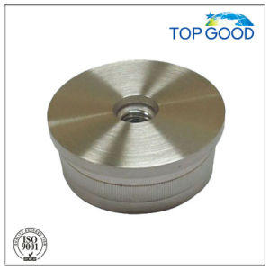 Flat Hollow End Cap with M8 Thread for Inox Balustrade