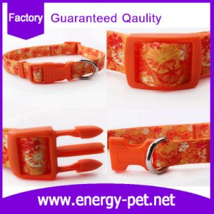 China Manufacturer Adjustable Polyester Braided Pattern Pet Collar pictures & photos