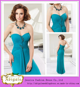 2014 Charming A Line Sweetheart Sleeveless Crystal Floor Length Cocktail Party Dresses (HS143) pictures & photos