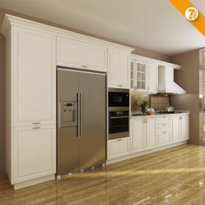 Oppein 7 Days Delivery White PVC Wood Kitchen Furniture (OP14-K001) pictures & photos