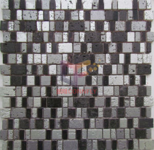 Black and Silver Mixed Color Resin Mosaic Tiles (CSR081) pictures & photos