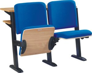 School Classroom Desk and Chair Lecture Hall Seat University Auditorium Chair (S05) pictures & photos