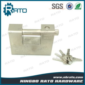 Heavy Duty Rectangular Iron Padlock with 5 Keys pictures & photos