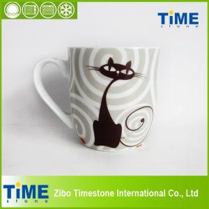 Cartoon Design Pretty Ceramic Cat Mug (82505) pictures & photos