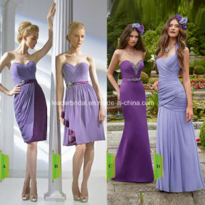 New Purple Empire Sweetheart Long and Short Bridesmaid Dress a-10 pictures & photos