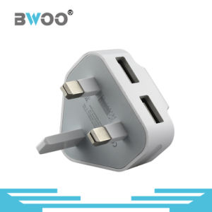 The Newest Dual USB Travel Charger with UK Plug pictures & photos