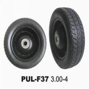 Black Serrated PU Foamed Truck Tires (KB10UBC-300-4) pictures & photos