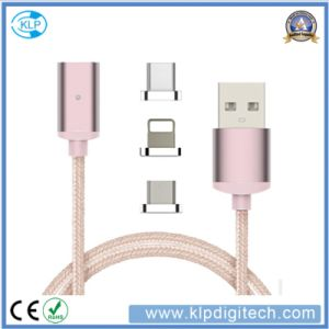 3 in 1 Braid Nylon Magnetic USB Cable for iPhone Android and Type-C pictures & photos
