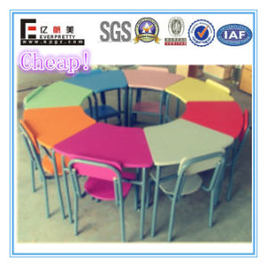 8-Seater Colorful Wooden Kids Table and Chair (SF-01K2) for Kindergarten Nursery Kids Children Desk Chairs pictures & photos