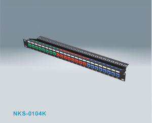 RJ45 24port CAT6 UTP Modular Patch Panel (NKS-0104K-C6)