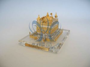 Golden Temple (Crystal and Gold Model) Medium to Small