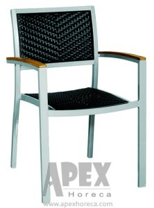 Aluminu Wicker Chair Rattan Furnture Outdoor Restaurant Chair (AS1036AR) pictures & photos