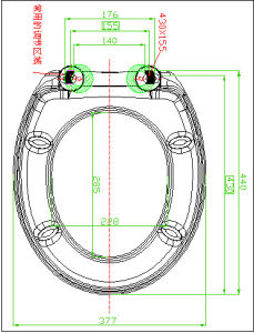 Urea Material Sanitary Close Front Toilet Seat pictures & photos
