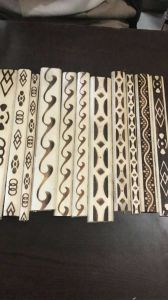Recon Teak Wood Moulding /Printed White Wood Beeding/Plain/Margin/Half Round/Rope Beeding
