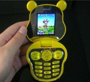 Kids Cell Phones With Cartoon Bear Shape (F168)