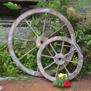 Handmade Nature Wood Garden Product with Wheel Type