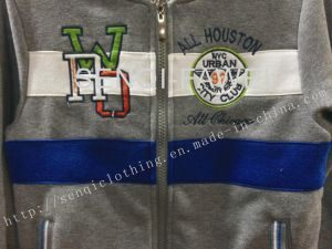 Fleece Boy Tracksuits with Zipper and Hood in Kids Clothes Sq-6653 pictures & photos
