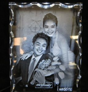3D Laser Crystal Wedding Gift (W1)