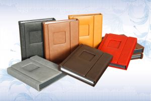 "Rich Leather Peel and Stick/Self-Stick Photo Albums in 8""X10"""