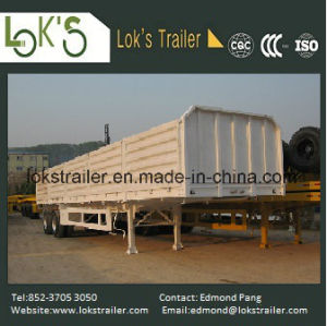 40 Feet 2 Axles Soil Drop Side Semi Trailer pictures & photos