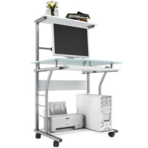 Soho Rolling 2-Tier Computer Cart with Printer Shelf for Small Office Study pictures & photos