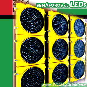 LED Traffic Signal Light Red Yellow Green Disk