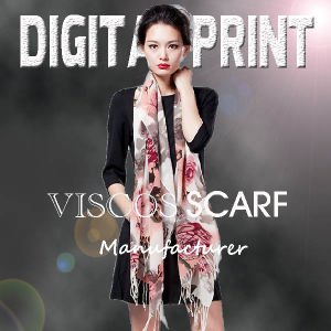 2017 High Quality Individual Fashion Design Digital Printed Rayon Scarf pictures & photos