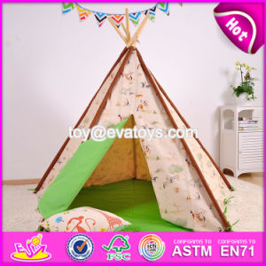 Deluxe Indoor Play Kids Teepee Tent Natural Cotton Canvas Children Kids Teepee Tent W08L005 pictures & photos