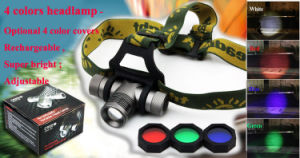Red Green Blue Beam CREE LED Head Lamp pictures & photos