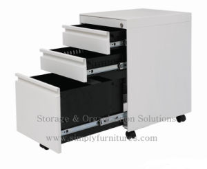 3- Drawers Steel Mobile Filing Cabinet (SI6-LCF3DG) pictures & photos