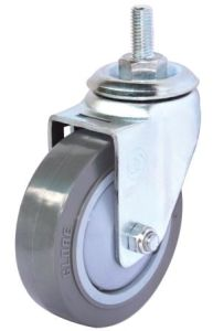 Threaded Stem PU Caster (Gray)(Flat Surface) (3304368) pictures & photos