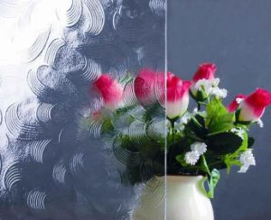 May Flower Patterned Glass with Jc/T 511-2002 & En572-5-2004 Standards