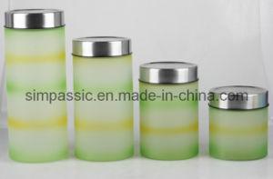 Hand Painting Glass Storage Jar (4PCS) (SG1421SJ) pictures & photos