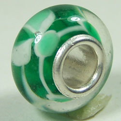 One-Piece Solid Sterling Silver Core Glass Beads
