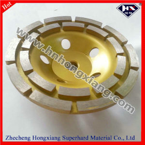 125mm Double Row Diamond Cup Grinding Wheel for Stone Polishing pictures & photos