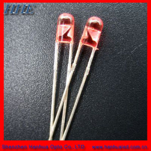 5mm Red Round without Flange LED Diode (CE&RoHS)