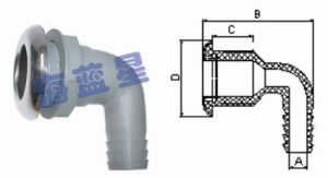 Plastic Stainless Steel Pipe to Hose Adapters (THO-2)