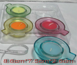 Machine-Made Colorful Glass Candle Holder (ZT-08) pictures & photos