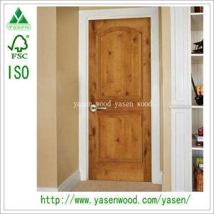 Commerical 2 Panel Knotty Alder Timber Door
