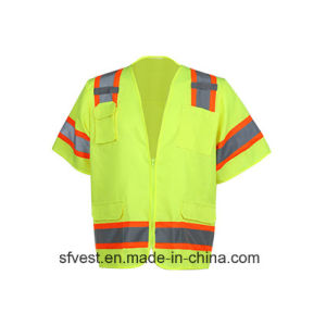 Traffic Safety Reflective Vest Safety with Chest Pockets Security Vest